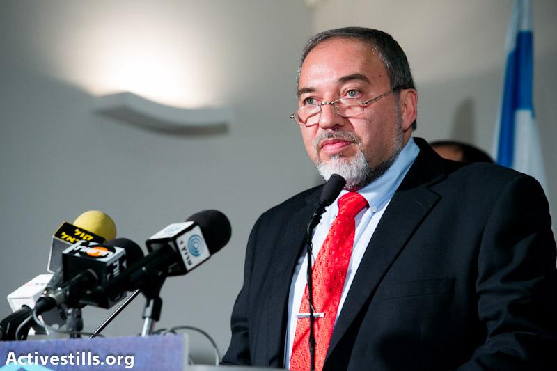 Avigdor Lieberman (photo: Yotam Ronen / activestills)