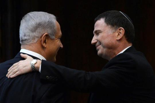 Prime Minister Binyamin Netanyahu with Knesset Speaker Yuli Edelstein (photo: Koby Gidon / Government Press Office)