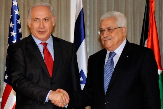 Netanyahu and Abbas in Washington, September 15, 2010 (State Dept. Photo)