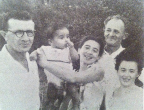 Tzvi Amiri with his adoptive family.