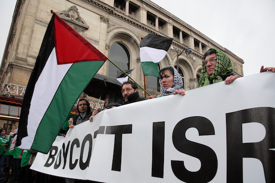 Stock photo boycott activists in France. (Photo by Olga Besnard / Shutterstock.com)
