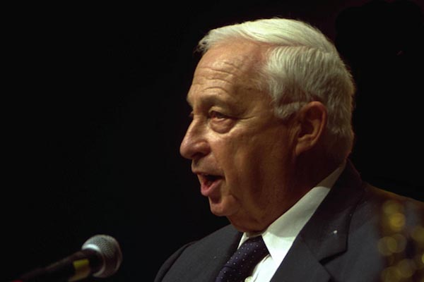 Former Israeli prime minister Ariel Sharon in Tel Aviv, December 16, 2001. The Gaza pullout is now beginning to be seen in a different light in Israel(Photo: Moshe Milner/GPO)
