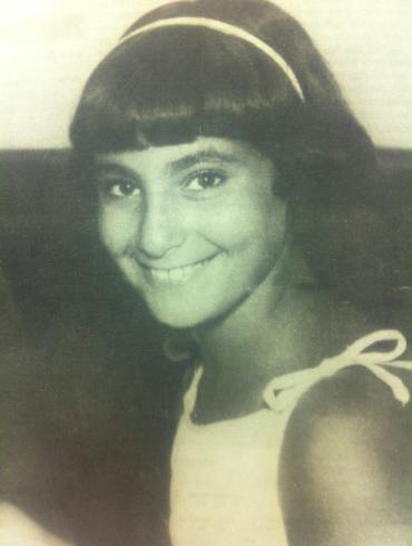 A young Miriam Shuker.