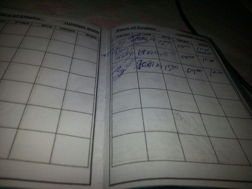 My employment notepad, March 18, 2014. (Ahmad)