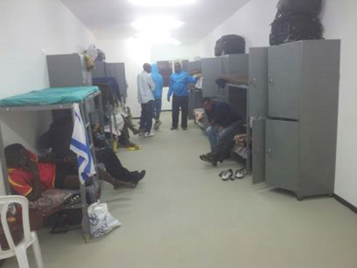 My room in Holot. Day one, February 2, 2014. (Ahmad)