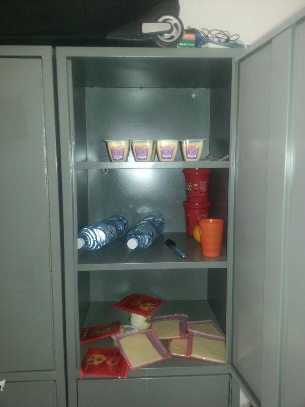We keep food in the lockers, Holot, February 22, 2014. (Ahmad)