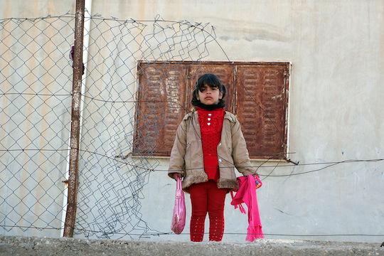 A Palestinian girl in Hebron. (Photo by Einat Fishbain)