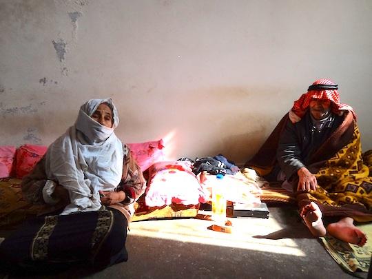 Couple Jerash refugee camp.