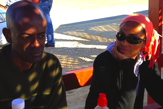 Aman and his wife Elsa, Holot 'open detention center.' (photo: Ayla Peggy Adler)