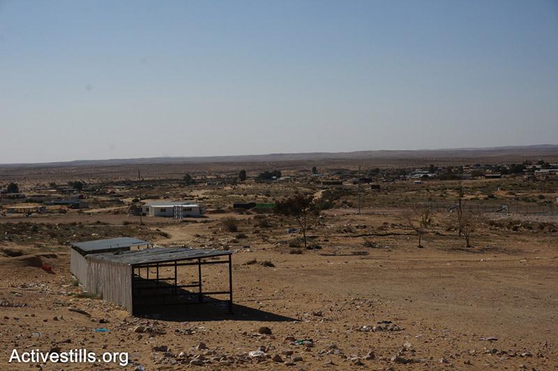 The elementary school's transportation point at the Bedouin village of Bir Hajag, Negev, Israel.