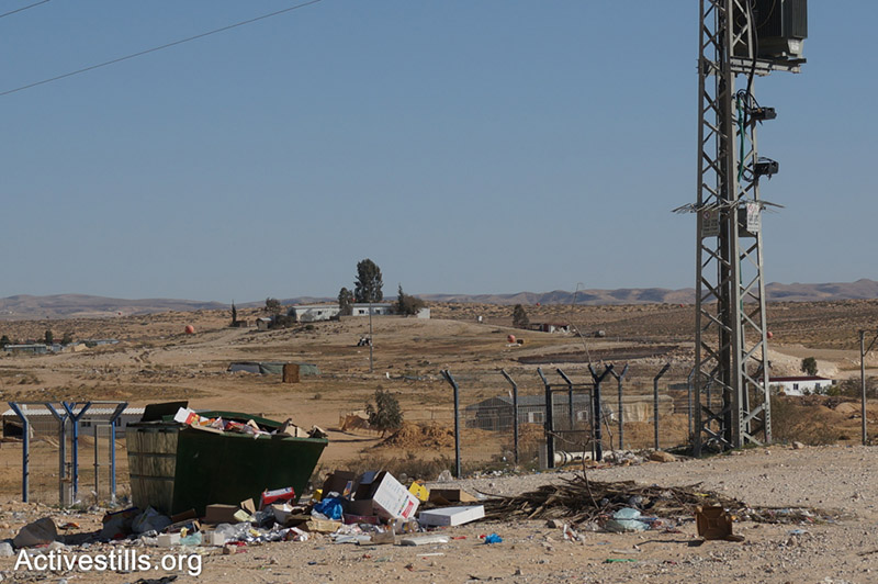 The garbage container at the Bedouin village of Bir Hadaj, Negev, Israel.