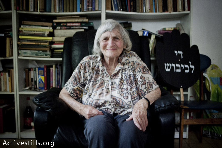 Hava Keler, 85, co-founder of Women In Black in Israel, poses for a picture in her home, Tel Aviv, 27.6.2013