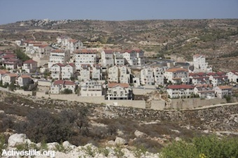 The settlement of Efrat (Photo by Activestills.org)