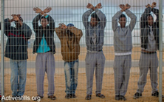 Detainees in Holot (Photo by Activestills.org)