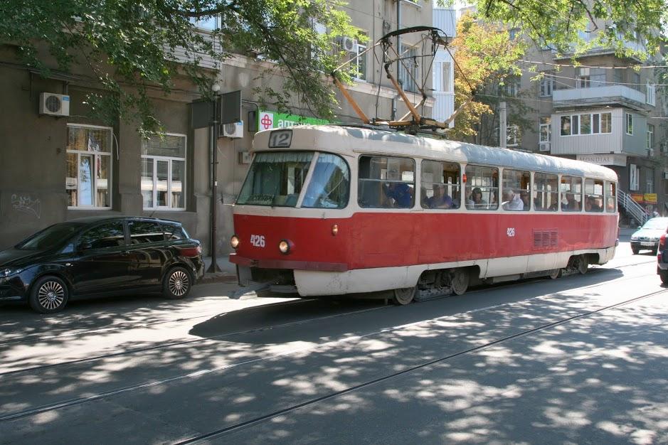 Electric tram in Kharkiv. (photo: Osnat Iti Skoblinski)