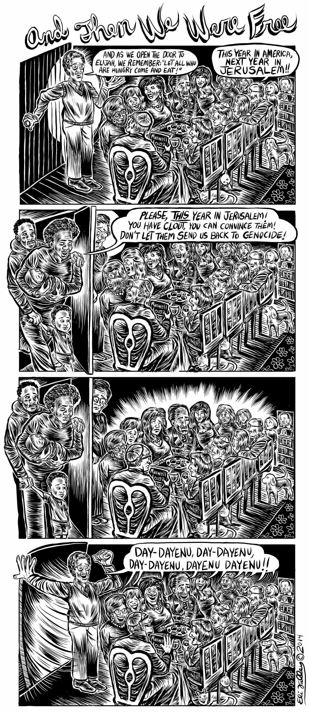 Eli Valley Passover cartoon (page 2)