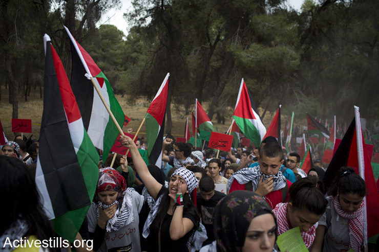 Palestinian citizens of Israel take part in the march of return (Activestills)