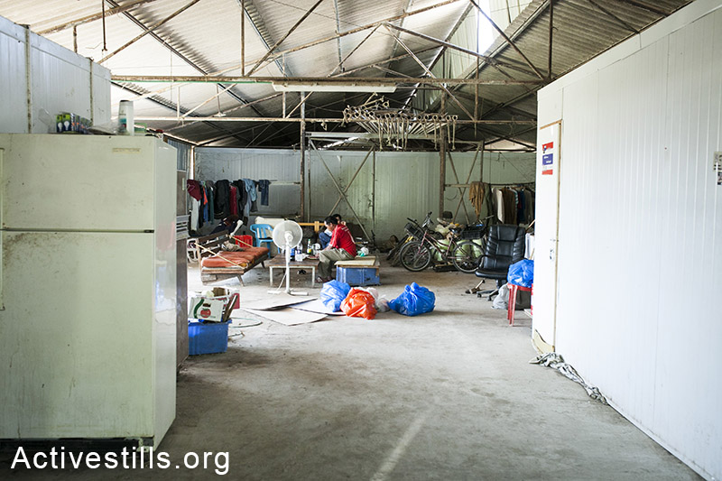 A view on a warehouse used as a residence workers. (Activestills.org)