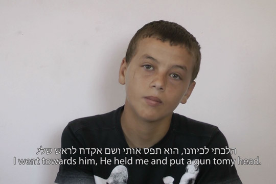 "Basel Tamimi in the movie ""Sometimes I'm Scared. Sometimes I Hit"""