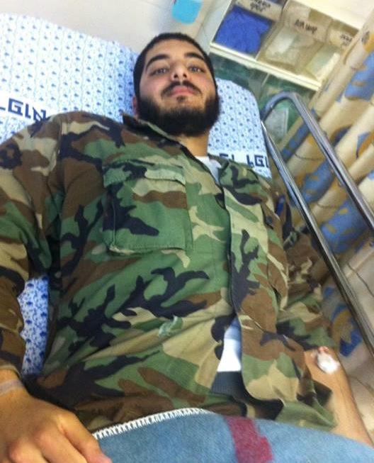 Omar Sa'ad lays in a hospital bed in Bnei Tzion Hospital, Haifa. (photo: Zaharaldin Sa'ad)