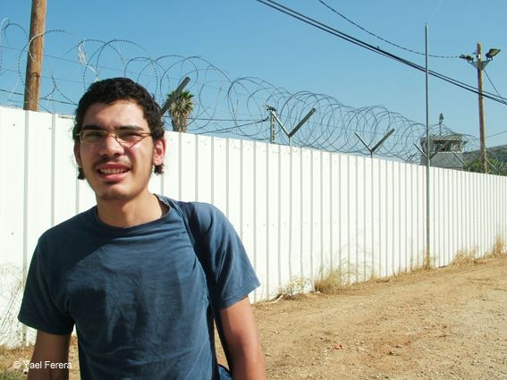 Ferera walking out of military jail after serving his first sentence. (photo: Ruty Ferera)