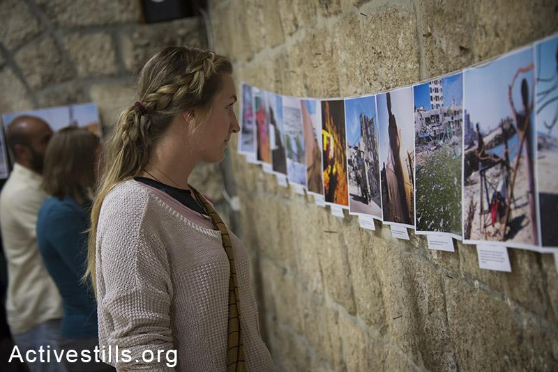 An Activestills photo exhibition on Gaza, Beit Sahour, West Bank, June 10, 2014. (Ryan Rodrick Beiler/Activestills.org)