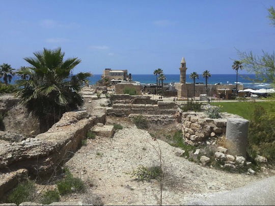The remains of Palestinian Caesarea. (photo: Leehee Rothschild)