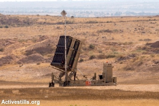 The Iron Dome rocket defense system near the southern Israeli city of Beer Sheva, July 8, 2014. (Photo: Yotam Ronen/Activestills.org)