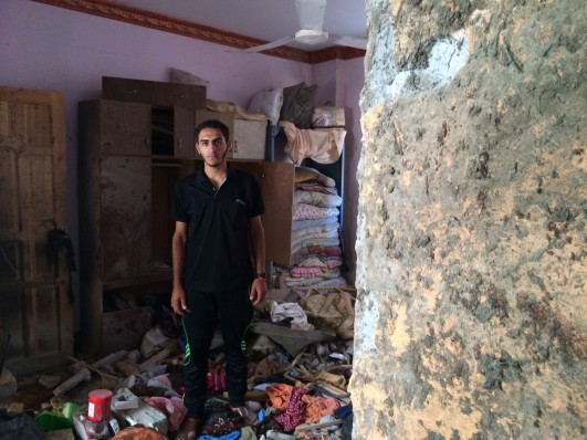 Alaa Balata is 17. On July 29, his entire family was killed by Israeli shelling (photo: Samer Bedawi)