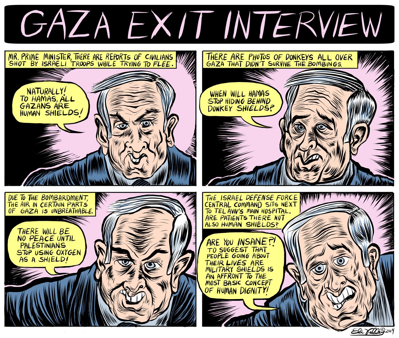 Eli.Valley.Netanyahu.Gaza.Exit.Interview