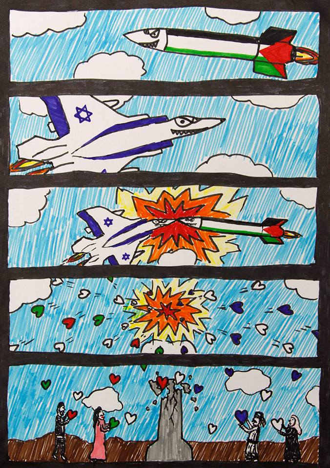 A comics by Ohad, age 11, from Sderot