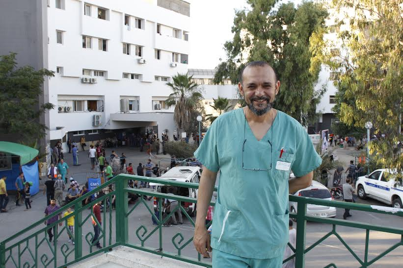 Zouhair Lahna, a Paris-based Moroccan physician, volunteered in Gaza during Cast Lead. He says Israel's current operation is much worse. (photo: Samer Badawi)