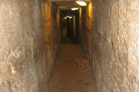 An ancient sewer in Silwan (photo: Emek Shaveh)