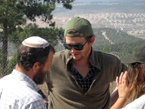 Ashton Kutcher visited West Bank as guest of settlers