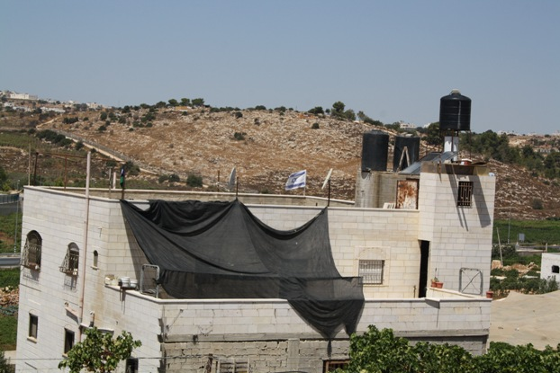 Israeli soldiers took over the top floor of the Shabana family home. Photo by Joseph Dana.