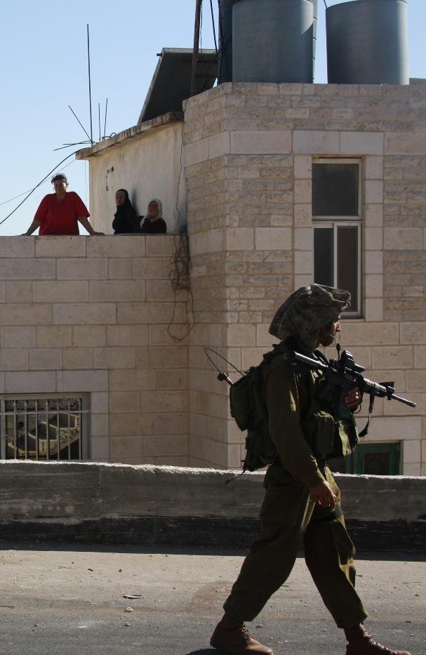 Israeli Soldier in Nabi Salih. Photo by Joseph Dana.