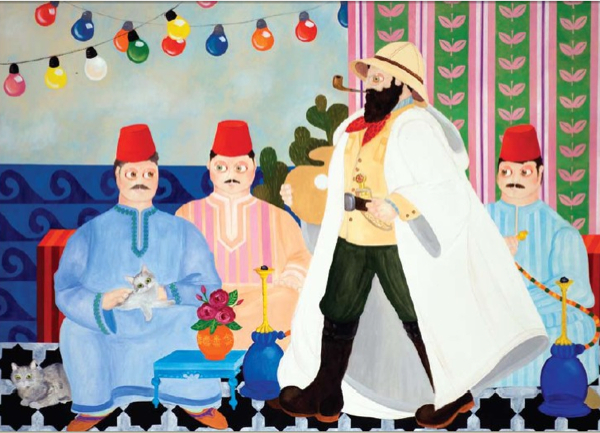 The Visit of Boris Schatz, by Eliahou Eric Bokobza (Nahum Gutman Museum of Art, Tel Aviv)