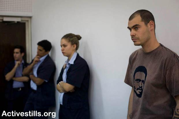 Jonathan Pollak in a Tel Aviv Court Room 27.12.10 Photo: Oren Ziv/Activestills.org