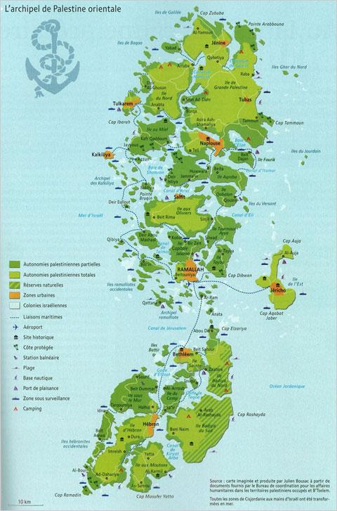 The West Bank as Disconnected Islands. Photo by Julien Bousac/Le Monde diplomatique
