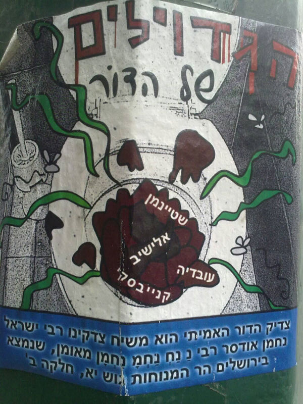 Hasidic poster bears great news: A brand new messiah