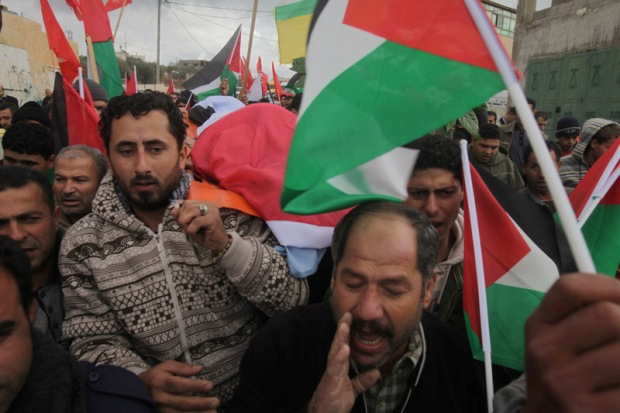 IMAGES: funeral of Bil'in protester Jawaher abu Rahmah