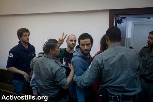 Some of the Arrested in a Tel Aviv Courthouse. Picture Credit: Oren Ziv/activestills.org