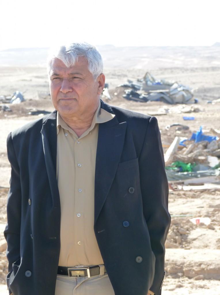 Thabet Abu Ras in Al-Araqib. Photo by Libby Lenkinski
