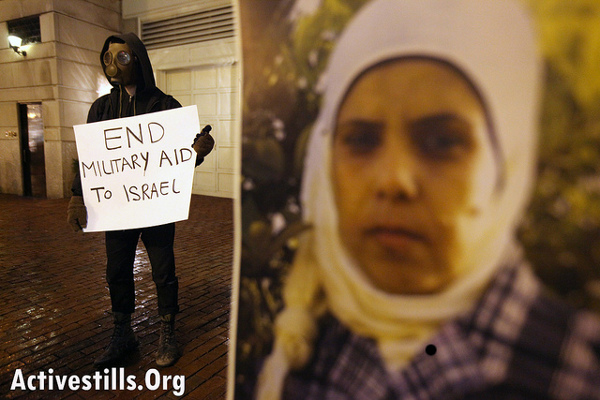 """""""End Military Aid to Israel"""" Photo: Activestills.org"""