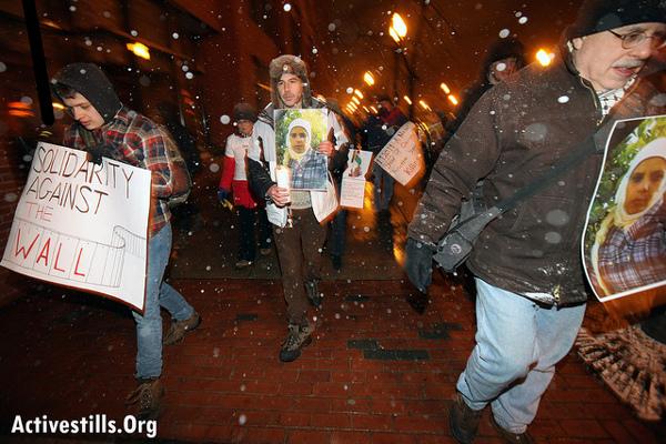 Activists in Boston. Photo: Activestills.org