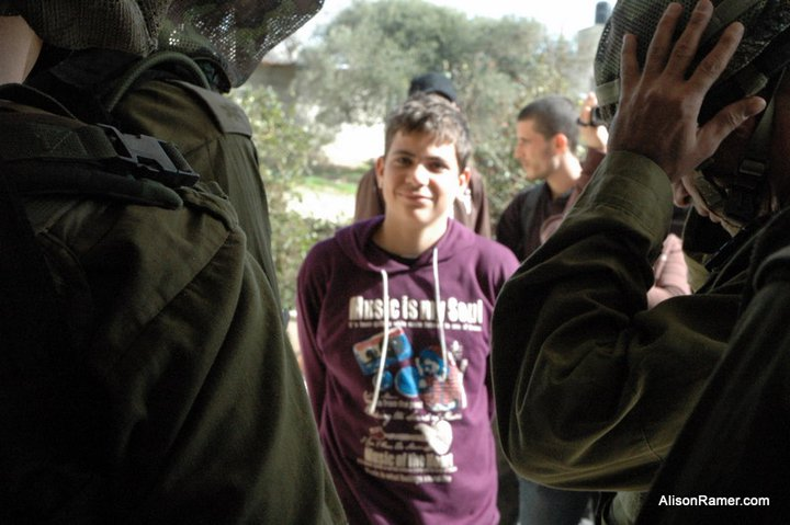 Islam Tamimi was arrested lon Saturday night in Nabi Saleh. Picture Credit: Alison Rammer