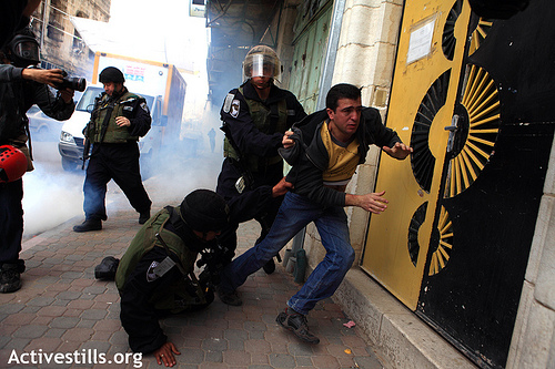 Demonstration in Hebron on Friday 25 Feb 2011. Photo: Activestills.org