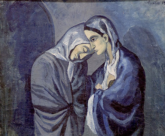 """""""Two Sisters"""" by Pablo Picasso (detail)"""