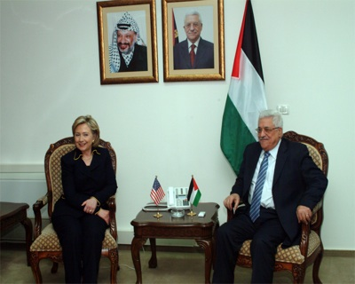 Palestinian President Abu Mazen and U.S Secretary of State Hillary Clinton (photo: United States Government Work)