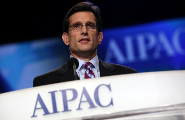 House Majority Leader Eric Cantor (R-VA) speaks at the AIPAC Policy Conference 2011. In Israel, Kantor's view would have placed him in a settler's party (photo: AIPAC)